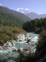 River Marsyangdi on the Annapurna Circuit